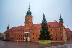 城堡皇家华沙 2016年11月27日 免版税库存照片
