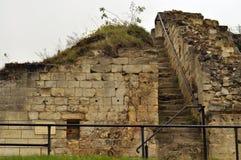 城堡破坏valkenburg 库存图片