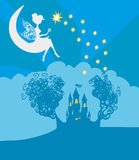 城堡神仙的魔术公主传说 库存图片