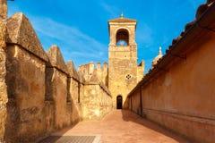 城堡科多巴cristianos de los雷耶斯・西班牙 库存图片