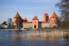 城堡立陶宛中世纪trakai 库存图片