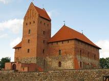 城堡立陶宛trakai水 库存图片