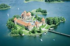 城堡立陶宛trakai 免版税库存照片