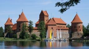城堡立陶宛trakai 图库摄影