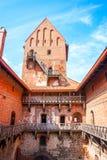 城堡立陶宛trakai 库存图片