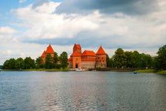 城堡立陶宛trakai 库存照片