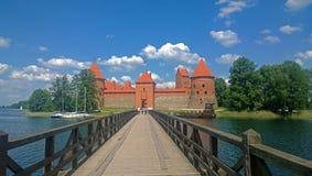 城堡立陶宛trakai 免版税图库摄影