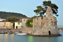 城堡端口视图 免版税图库摄影