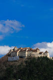 城堡筑堡垒于的堡垒rasnov罗马尼亚 免版税库存照片