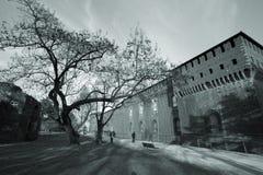 城堡米兰 免版税图库摄影