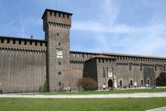 城堡米兰 免版税库存照片