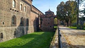 城堡米兰sforza 免版税库存图片