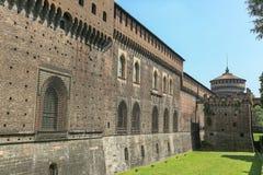 城堡米兰sforzesco 库存照片