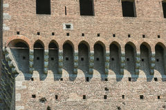 城堡米兰sforzesco 免版税库存图片
