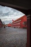 城堡红色建筑学 免版税库存图片