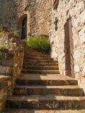 城堡老台阶 免版税库存图片