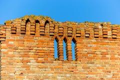 城堡老墙壁  免版税库存图片