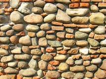 城堡老石墙 免版税库存图片
