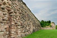 城堡老石墙 免版税图库摄影