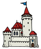 城堡老石头 免版税库存图片