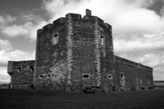 城堡老苏格兰人 图库摄影