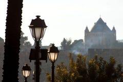 城堡老视图 免版税图库摄影