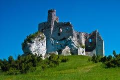 城堡老鹰mirow嵌套波兰废墟 免版税库存图片