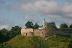 城堡老fortresson小山 库存图片