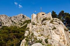 城堡老omis海盗城镇 库存图片