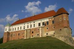 城堡老sandomierz 免版税库存照片