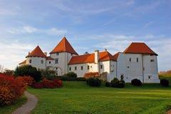 城堡老varazdin 免版税库存图片