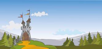 城堡背景 免版税图库摄影