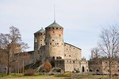 城堡芬兰中世纪olavinlinna savonlinna 图库摄影