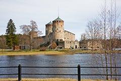 城堡芬兰中世纪olavinlinna savonlinna 免版税库存照片