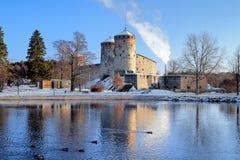 城堡芬兰olavinlinna savonlinna 库存图片
