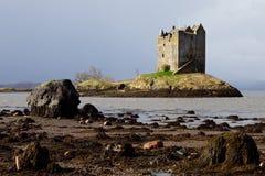 城堡苏格兰潜随猎物者 免版税库存照片