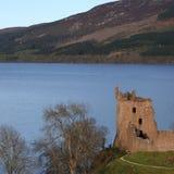 城堡苏格兰urquart 图库摄影