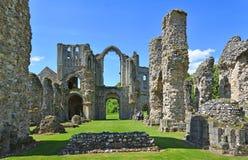 城堡英亩小修道院诺福克遗骸  库存图片