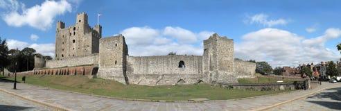 城堡英国肯特罗切斯特 库存照片