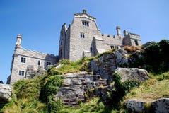 城堡英国marazion迈克尔挂接s st 免版税库存照片
