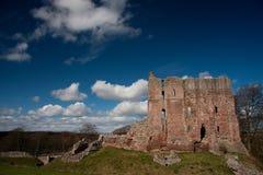 城堡英国norham northumberland 免版税图库摄影
