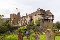 城堡英国stokesay的萨罗普郡 库存图片