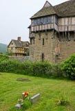 城堡英国stokesay的萨罗普郡 免版税库存图片