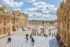 城堡著名法国宫殿皇家凡尔赛 免版税图库摄影