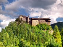 城堡著名orava斯洛伐克 库存照片