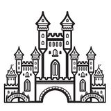 城堡葡萄酒传染媒介 库存照片