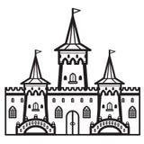 城堡葡萄酒传染媒介 免版税库存图片