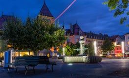 城堡藕池,洛桑瑞士人 库存图片