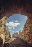 城堡被加强的墙壁 免版税图库摄影