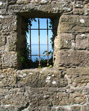 城堡视图视窗 图库摄影
